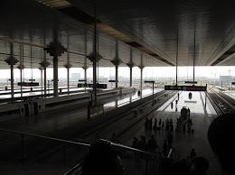 The bullet train platform