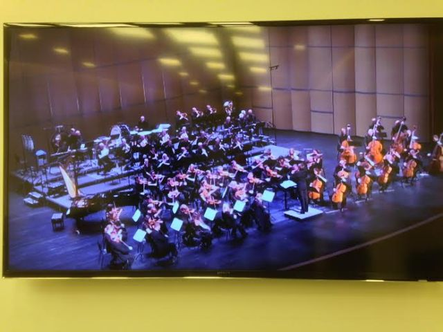 The RLPO in concert from the back stage monitor