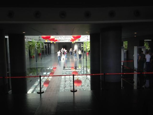 The entrance lobby of the venue