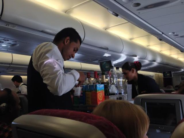 The marvellous hospitality on board Qatar Airlines