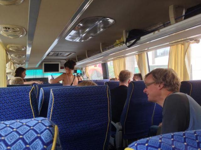 RLPO tour bus travelling towards Suzhou