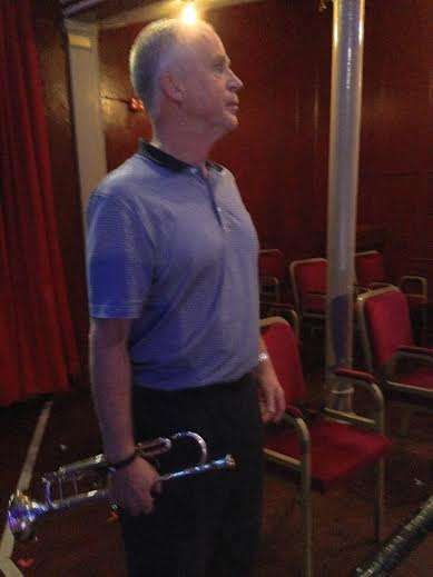 2nd Trumpet Paul Marsden limbering up...
