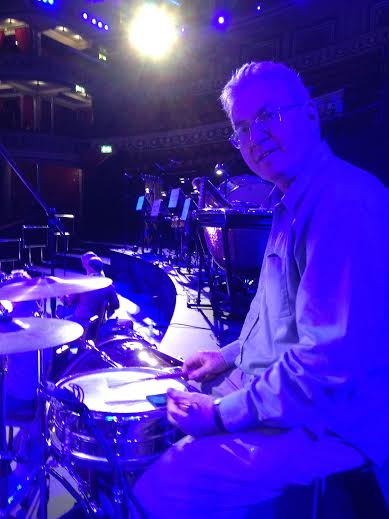 Principal Percussion Graham Johns looking blue on the drums!