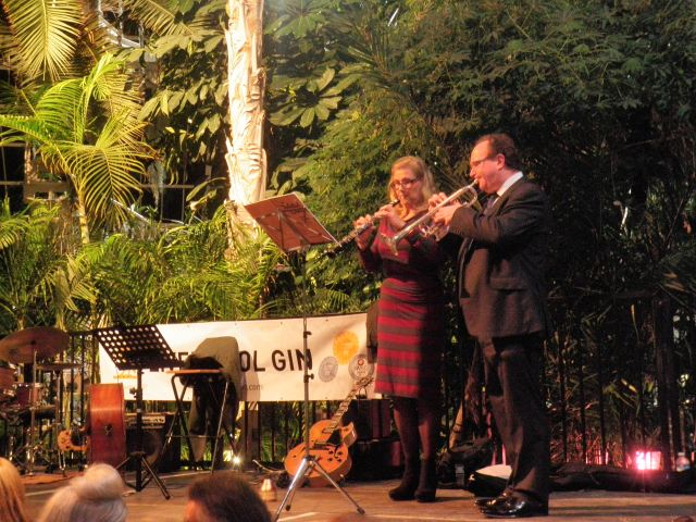 This evening, Ruth and I from the RLPO played to a packed house at the spectacular 'Sefton Park 'Palm House.  The Liverpool Gin Festival, hosted impeccably by Liverpool Distillery Ltd. Fabulous!