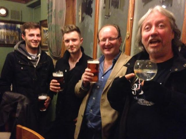 My boys, me, and stellar Irish Musician Ged Surgue