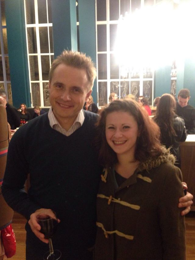RLPO Chief Conductor Vasily Petrenko with the lovely trombonist and arranger Tilly Tompkins.