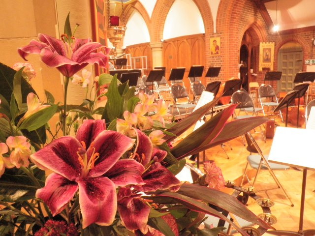 St. George's Church looked stunning for the concert.