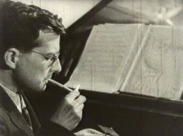 Shostakovich photograpphed in 1941 during the siege of Leningrad