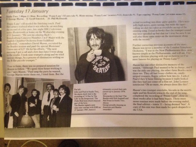 An extract from Mark Lewisohn's excellent 'The Complete Beatles Recording Sessions'