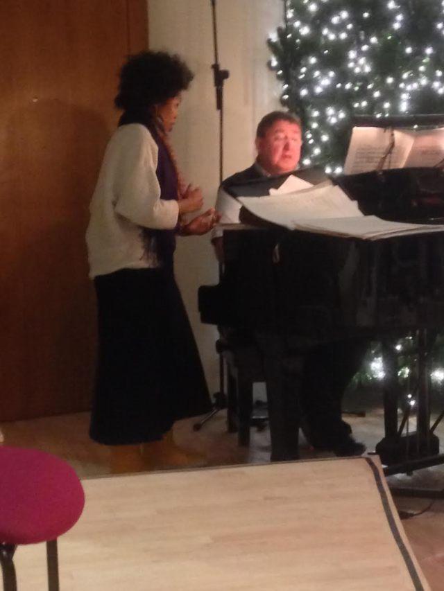 Pumeza Matshikiza rehearsing with Ian Tracey