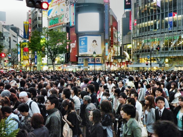 Shibuya Crossing in reality!!!
