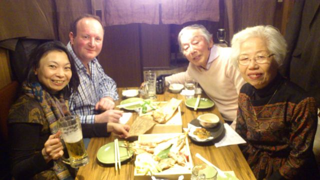 Enjoying our feast!
