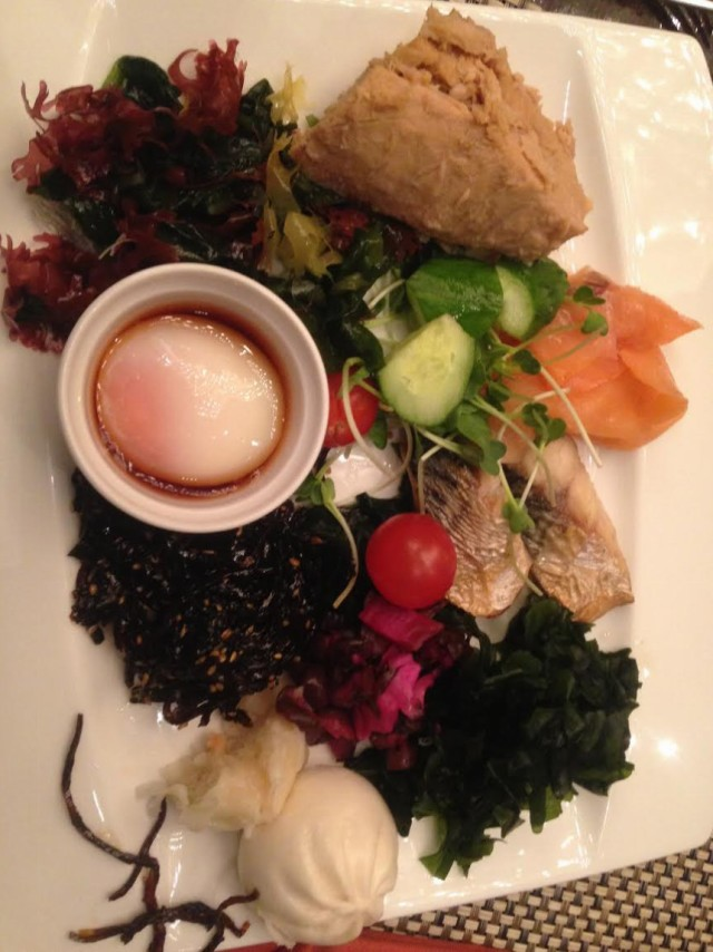 Seaweed medley - hotel breakfast today!