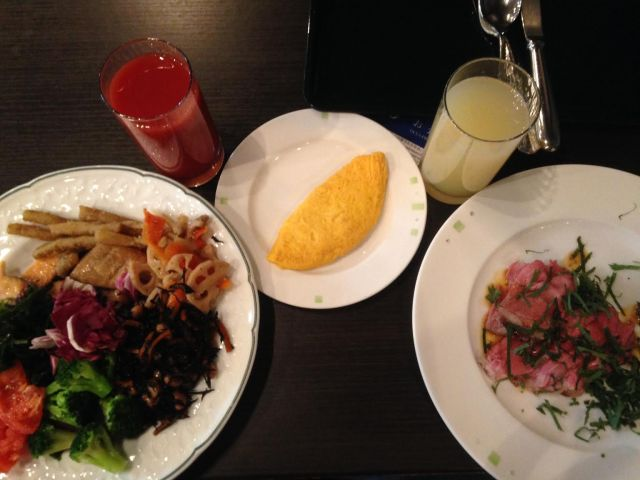 Breakfast in the Rhigha Royal Hotel - Osaka