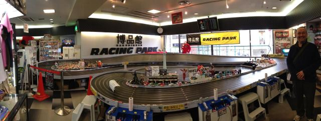 The horns even visited a toy shop in Tokyo for a go on a massive Scalextric!