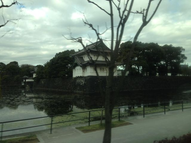 The Empoeror of Japan's Imperial Palace - we passed this impressive place on the way to catching the bullett train.