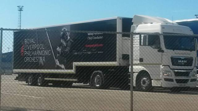 I have just been sent this photo of the RLPO lorry. It was spotted and photographed on the way home by a holidaymaker in Belgium!