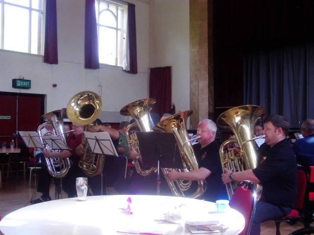 The highlight of the performance was undoubtedly The Basstie Boys playing that timeless classic by Leroy Anderson, Tubas' Holiday. When the music is travelling in excess of the National Speed limit don't you think they should be wearing seat belts?!