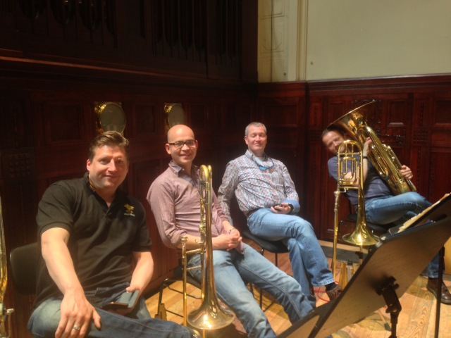RLPO Trombone & Tuba Section. Simon Cowen, Simon Powell, Simon Chappell & Robin Haggart