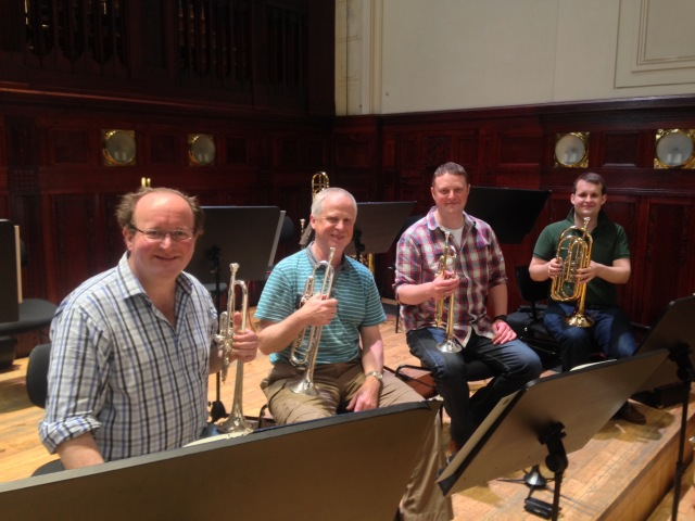 RLPO Trumpet Section for the tour: Brendan Ball, Paul Marsden, Dave Hooper & Rory Cartmel (bass trumpet)