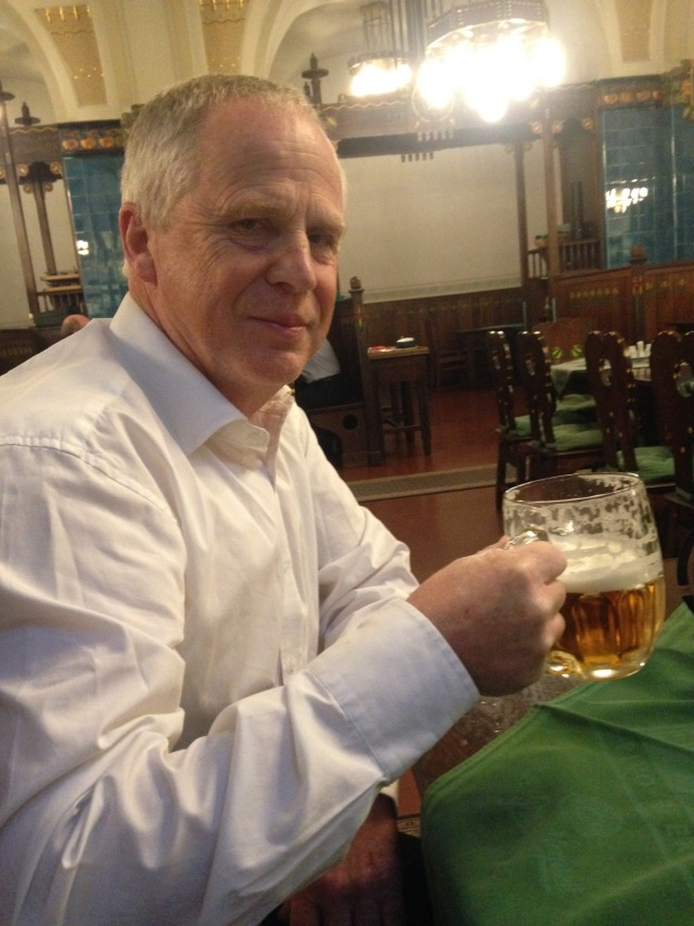 Paul Marsden, Principal Second Trumpet enjoying a spot of refreshment in Prague